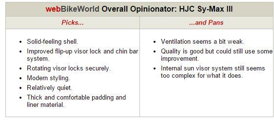 HJC Sy-Max III Opinionator