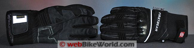 Spidi T-Winter vs. Firstgear Kathmandu Gloves Reflectivity