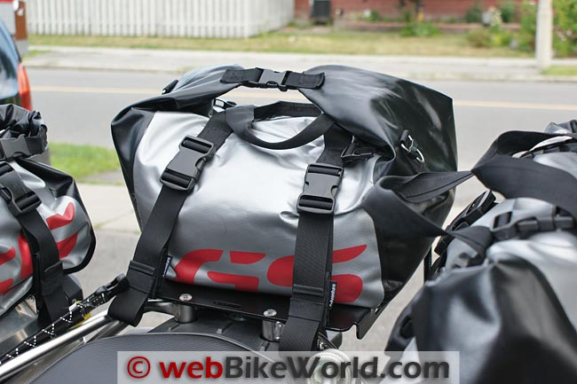 BMW Adventure Dry Bag on Bike