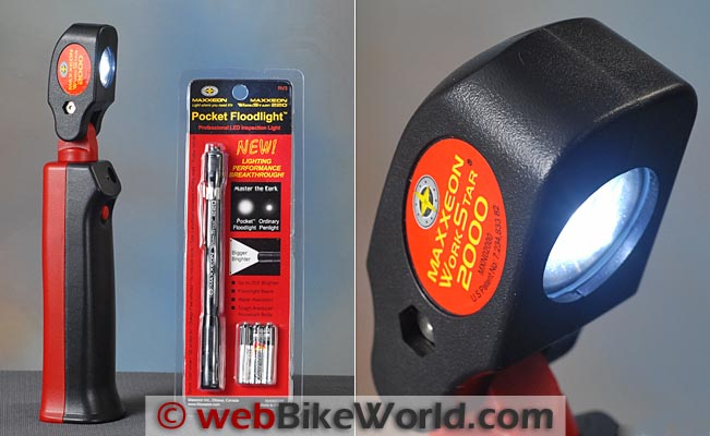 Maxxeon WorkStar 2000 Floodlight Size Comparison