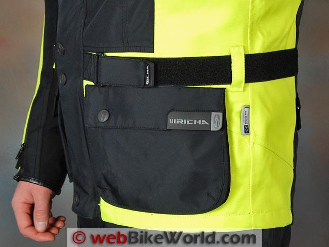 Richa Spirit Jacket Front Pocket Waist Adjuster