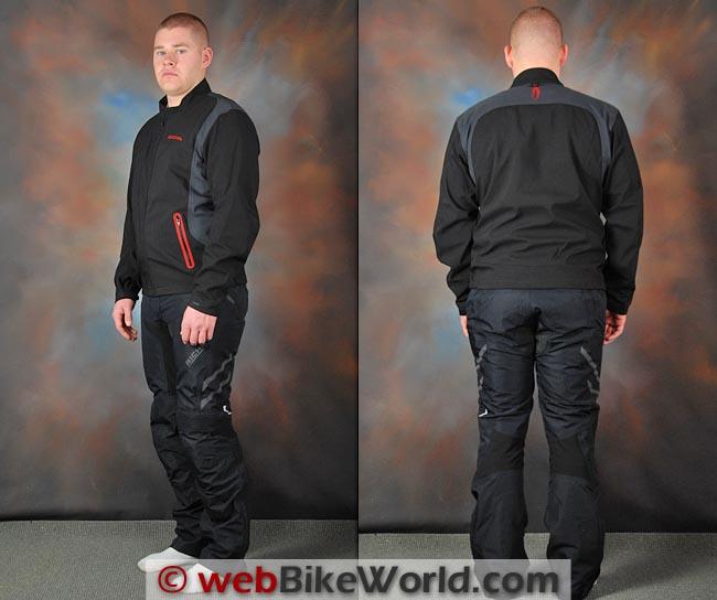 Richa Spirit Jacket Liner Front and Rear
