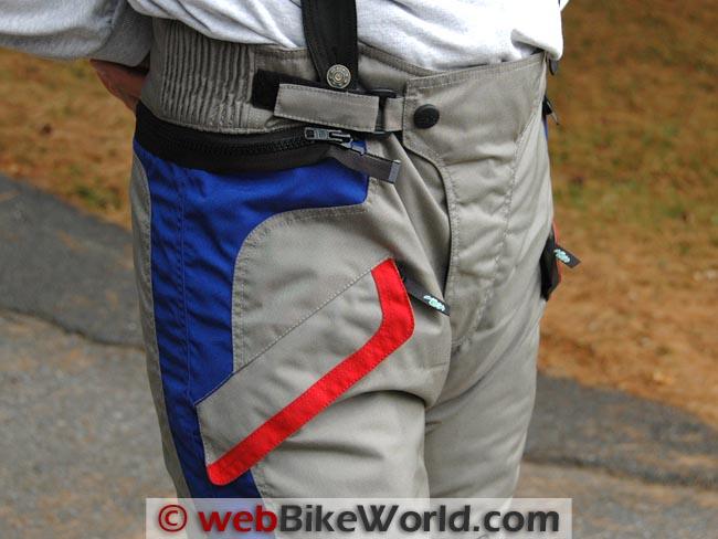 Teiz Navigator Pants Waist Details