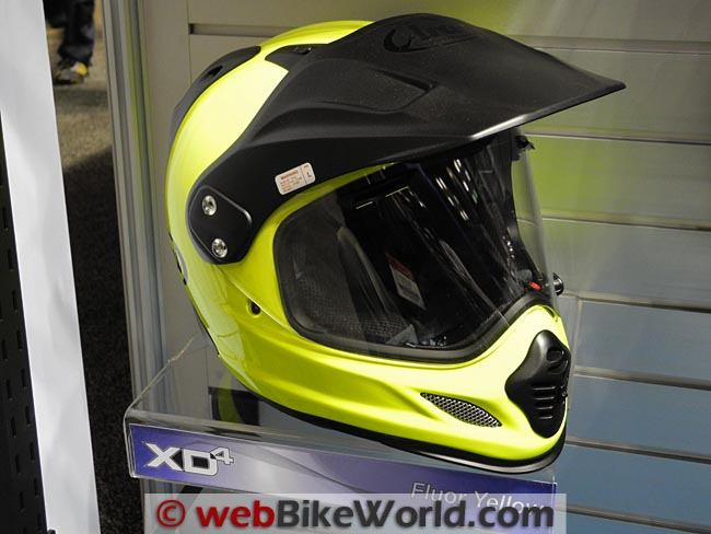 Arai XD4 Fluorescent Yellow