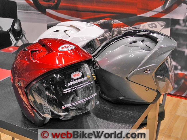 Bell Mag-9 Helmets Red Silver White
