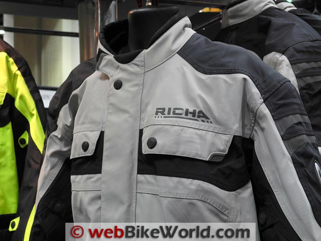 Richa Spirit Jacket Gray Close-up