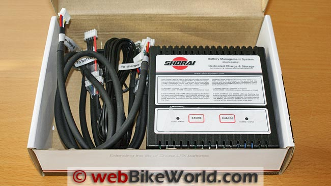 Shorai BMS01 Battery Charger Kit in Box