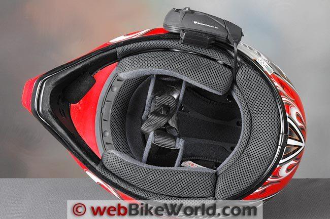 Interphone F5 Intercom Helmet Mount Profile