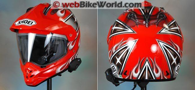 Interphone F5 on Helmet