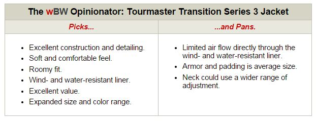 Tourmaster Transition Series 3 Jacket Opinionator
