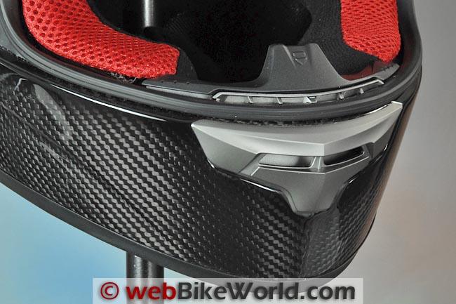 KBC VR4R Carbon Motorcycle Helmet Chin Vent