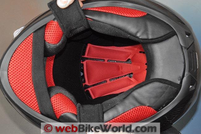 KBC VR4R Carbon Motorcycle Helmet Liner