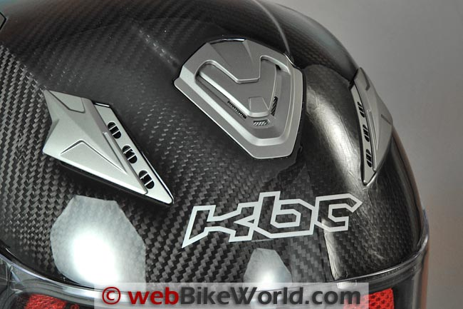 KBC VR4R Carbon Motorcycle Helmet Top Vents
