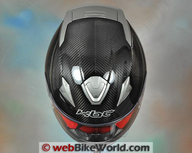 KBC VR4R Carbon Motorcycle Helmet Top View