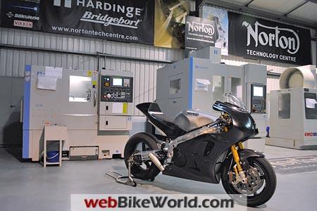 Norton TT Racer in Shop