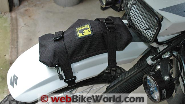 Wolfman Enduro Fender Bag Packed