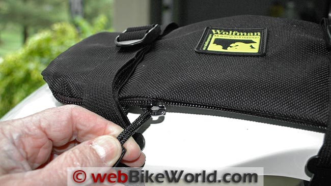 Wolfman Enduro Fender Bag Zipper