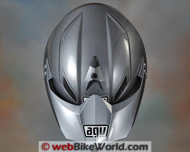 AGV AX-8 Dual Evo Helmet Top View