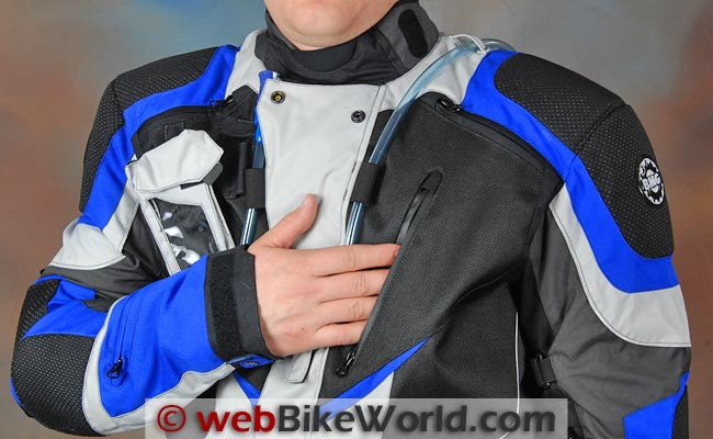 British Motorcycle Gear BMG Adventure II Jacket Chest