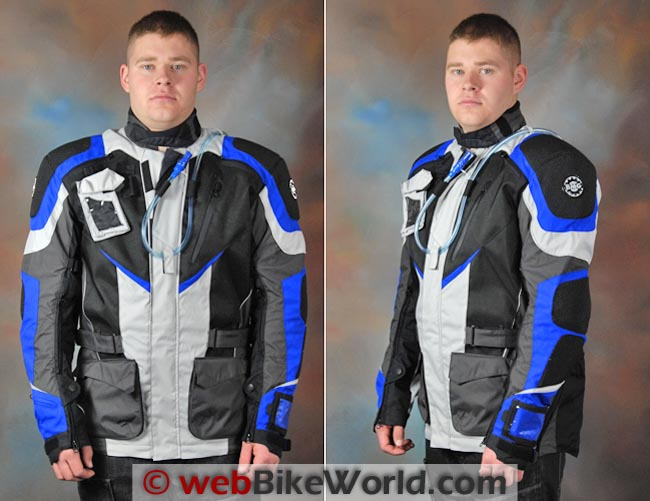 British Motorcycle Gear BMG Adventure II Jacket Front and Side Views