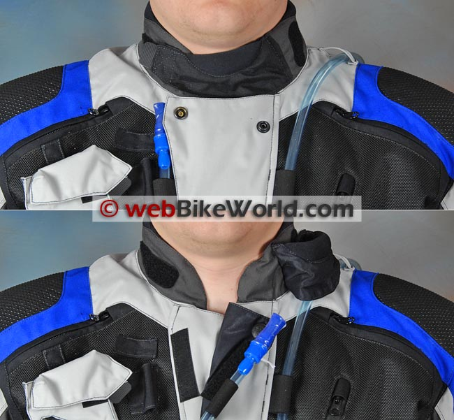 British Motorcycle Gear BMG Adventure II Jacket Neck