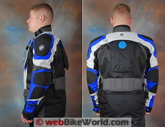 British Motorcycle Gear BMG Adventure II Jacket Side and Rear Views