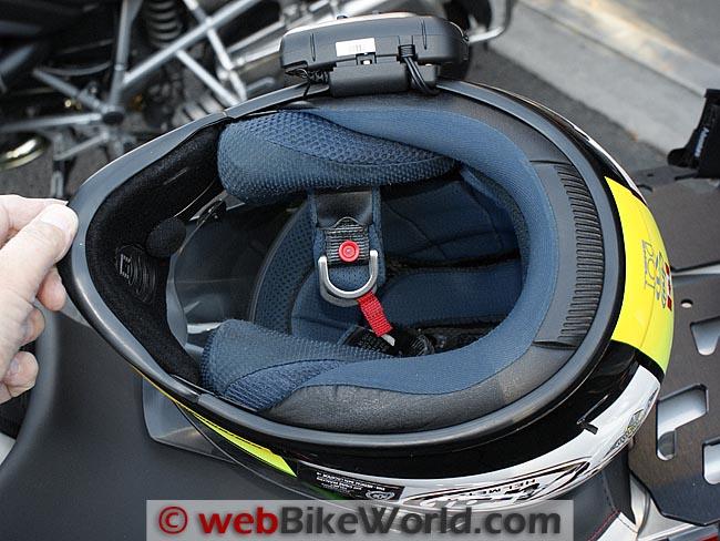 Cardo Scala Rider G9 Helmet Mount Bottom View