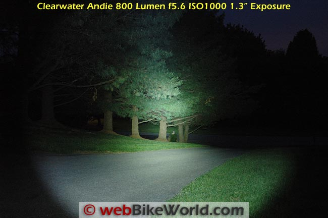 Clearwater 800 Lumen LED Flashlight Outdoors