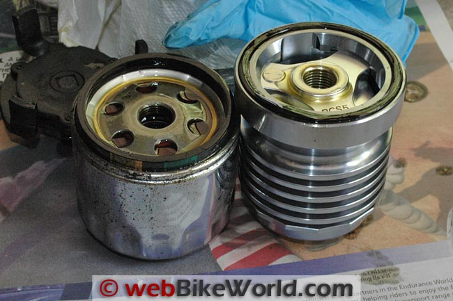 Stock vs. Flo Oil Filter Size
