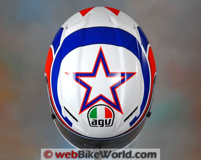 AGV Grid Helmet Top View