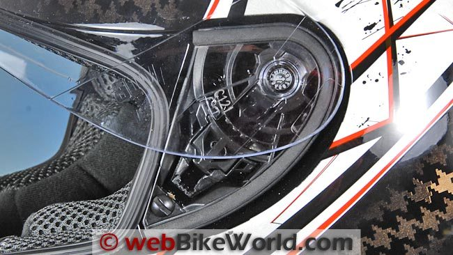 AGV K4 EVO Helmet Face Shield Release Mechanism