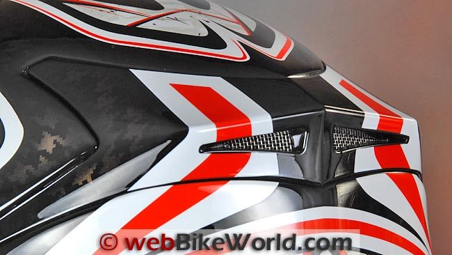 AGV K4 EVO Helmet Rear Vents