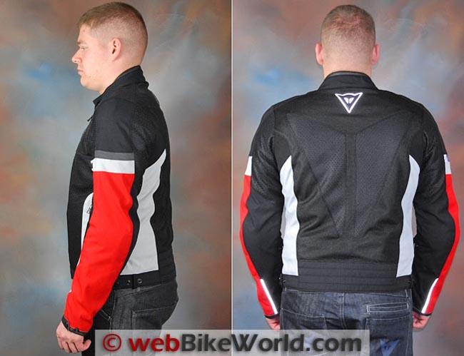 Dainese Air Frame Jacket Side Rear Views