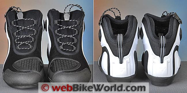 Dainese Asphalt Shoes Front Rear Views