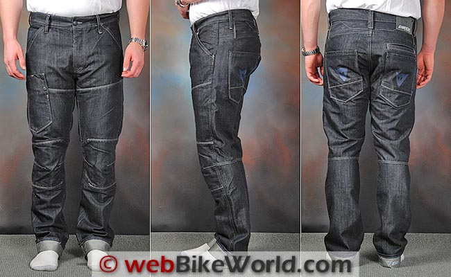 Dainese D1 Kevlar Jeans Front Side Views