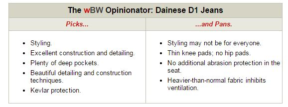 Dainese D1 Kevlar Jeans Opinionator
