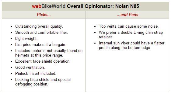 Nolan N85 Opinionator