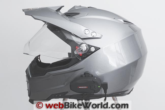 BikeComm Hola Intercom on AGV AX-8 Dual EVO