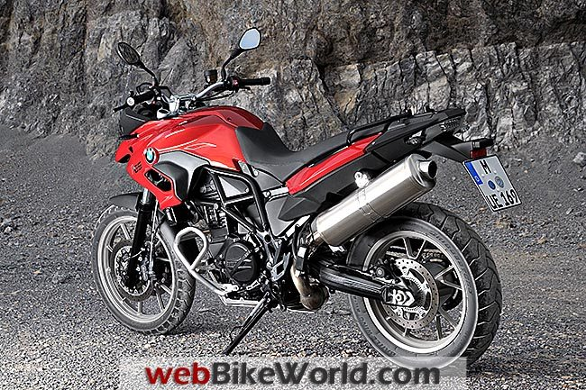 BMW F 700 GS Red Rear