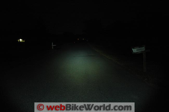 Clearwater 700 Lumen Flashlight on Road