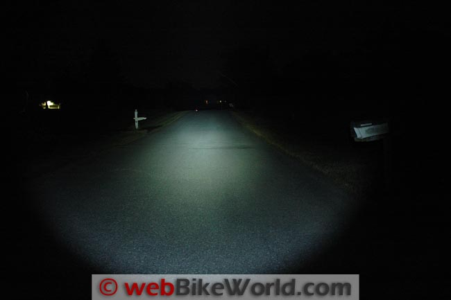 Clearwater 800 Lumen Flashlight on Road