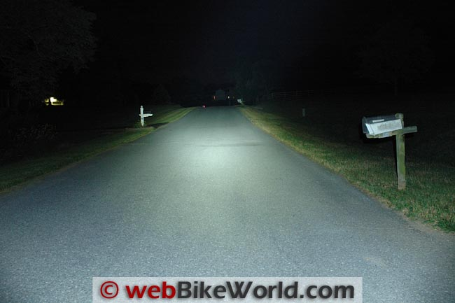 FandyFire UV-S5 Flashlight on Road