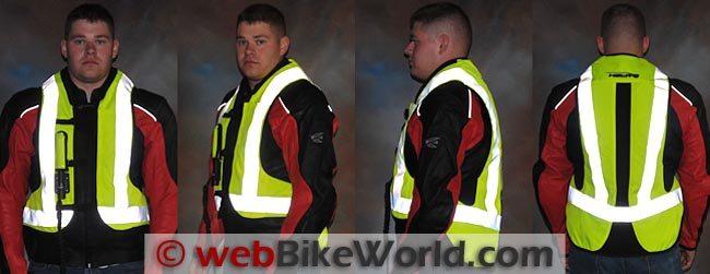 Helite Airbag Vest Reflectivity
