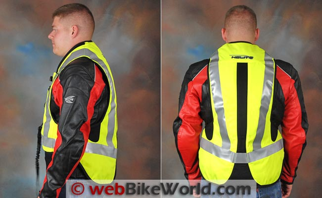 Helite Airbag Vest Side Rear Views