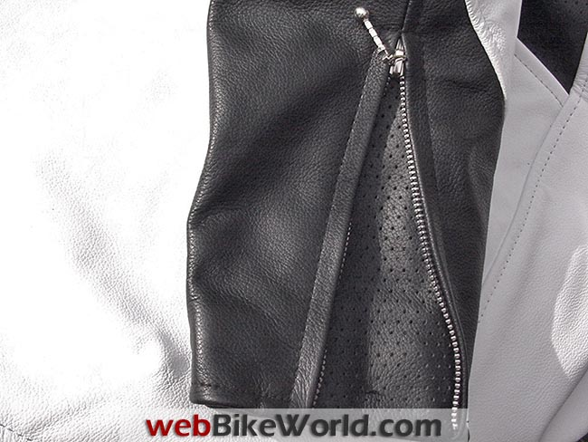Hillside Leather Jacket Sleeve Zipper