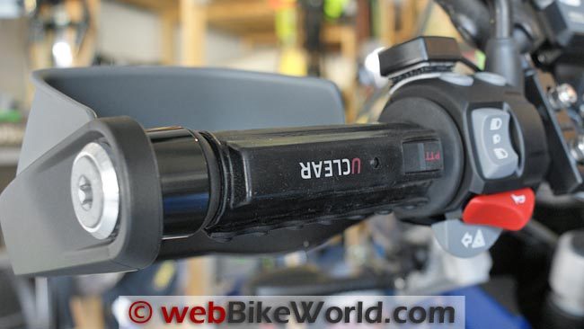 UClear WT300 Push to Talk Mounted on Hand Grip