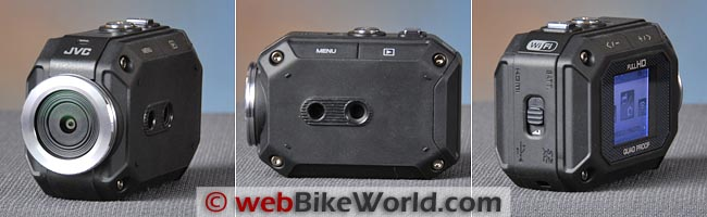 JVC GC-XA1 Action Camera Front Rear Views
