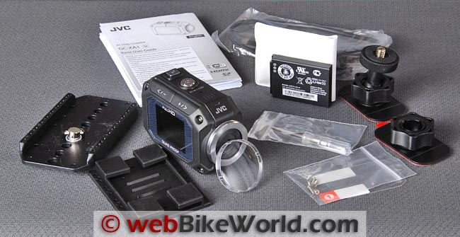 JVC GC-XA1 Adixxion Kit Contents
