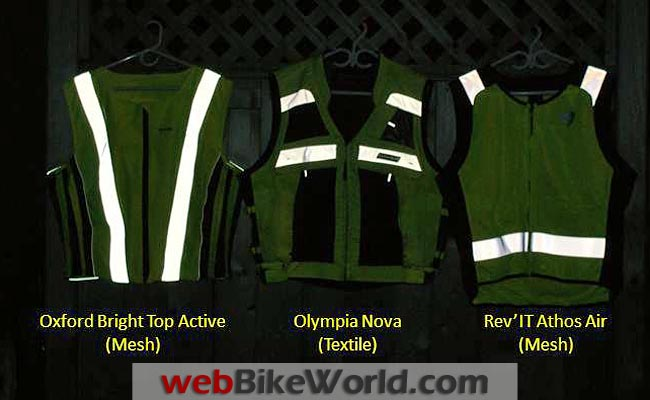 Motorcycle Reflective Vests Night Time Reflectivity Front