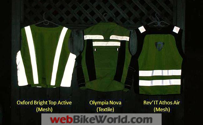 Motorcycle Reflective Vests Night Time Reflectivity Rear